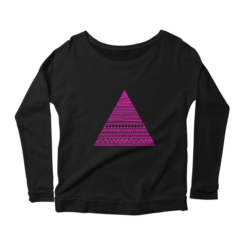 Triangle purple Women's Scoop Neck Longsleeve T-Shirt by DERG's Artist Shop
