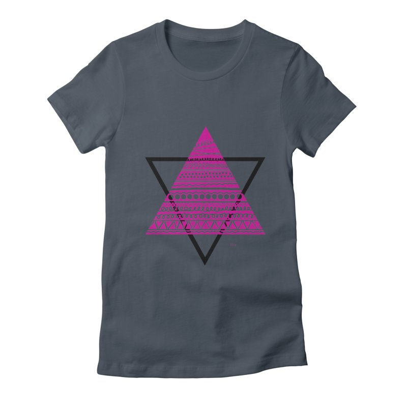 Triangle purple Women's Fitted T-Shirt by DERG's Artist Shop
