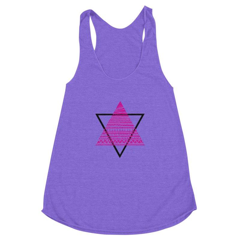 Triangle purple Women's Racerback Triblend Tank by DERG's Artist Shop