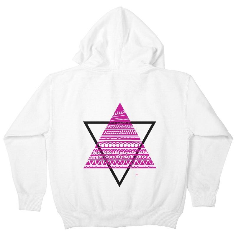 Triangle purple Kids Zip-Up Hoody by DERG's Artist Shop