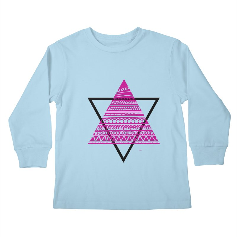 Triangle purple Kids Longsleeve T-Shirt by DERG's Artist Shop