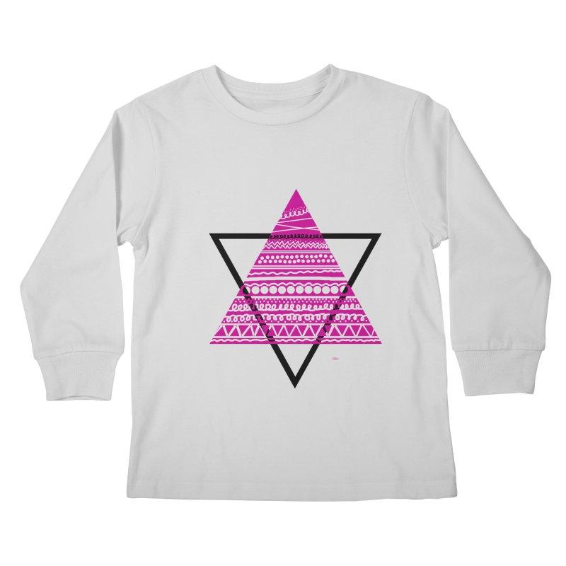 Triangle purple Kids Longsleeve T-Shirt by DERG's Artist Shop