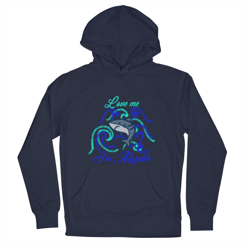 Shark adorable Women's French Terry Pullover Hoody by DERG's Artist Shop