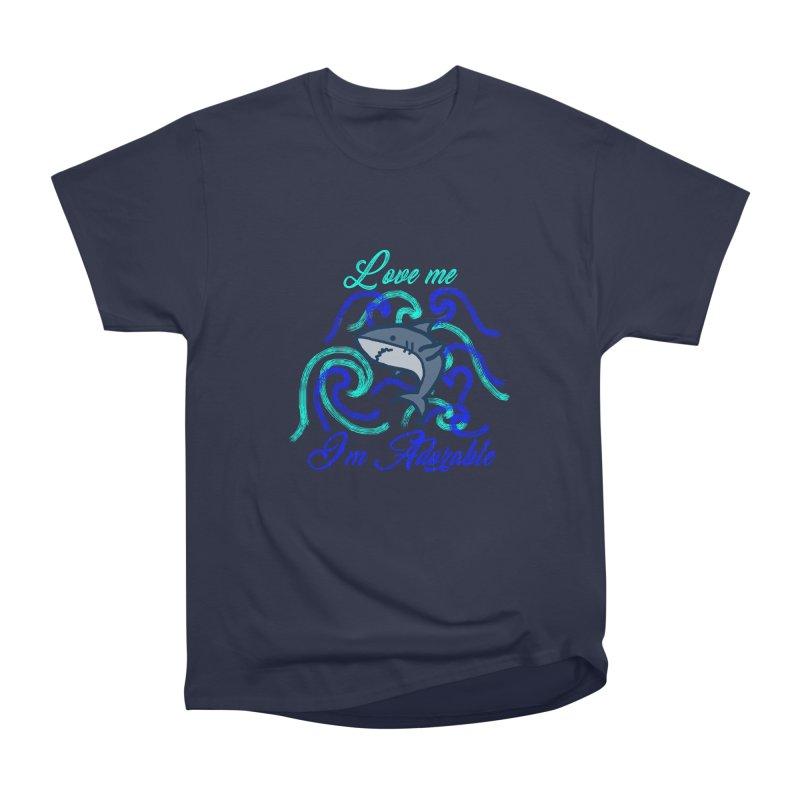 Shark adorable Men's Heavyweight T-Shirt by DERG's Artist Shop