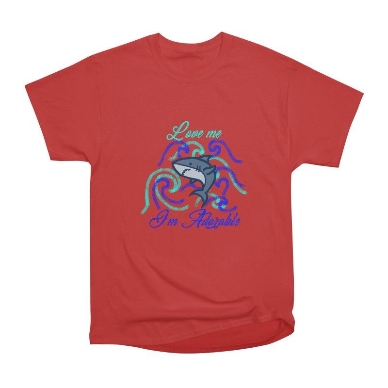 Shark adorable Women's Heavyweight Unisex T-Shirt by DERG's Artist Shop