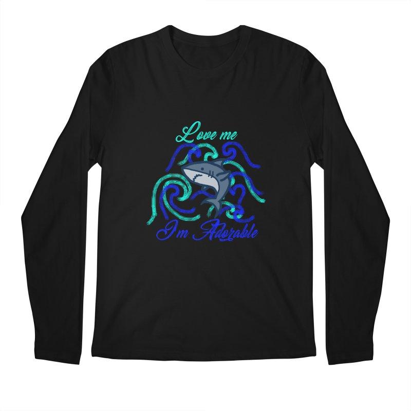 Shark adorable Men's Regular Longsleeve T-Shirt by DERG's Artist Shop