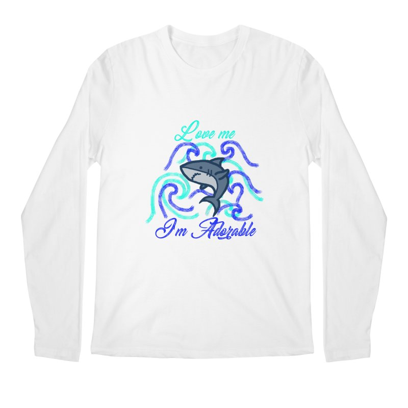Shark adorable Men's Regular Longsleeve T-Shirt by DERG's Artist Shop