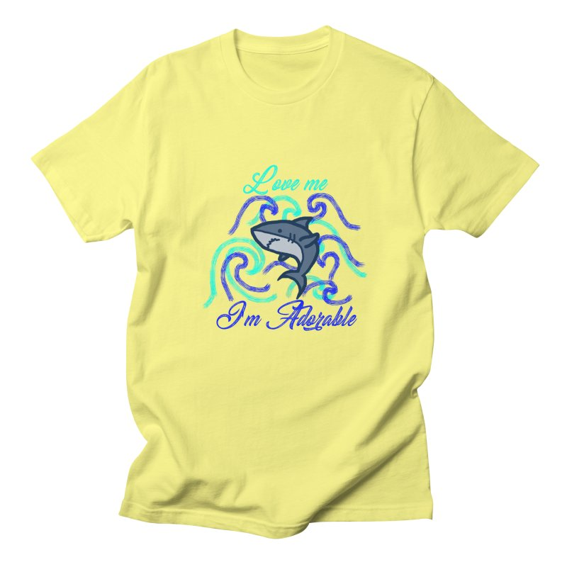 Shark adorable Men's T-Shirt by DERG's Artist Shop
