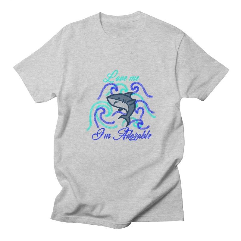 Shark adorable Women's Unisex T-Shirt by DERG's Artist Shop