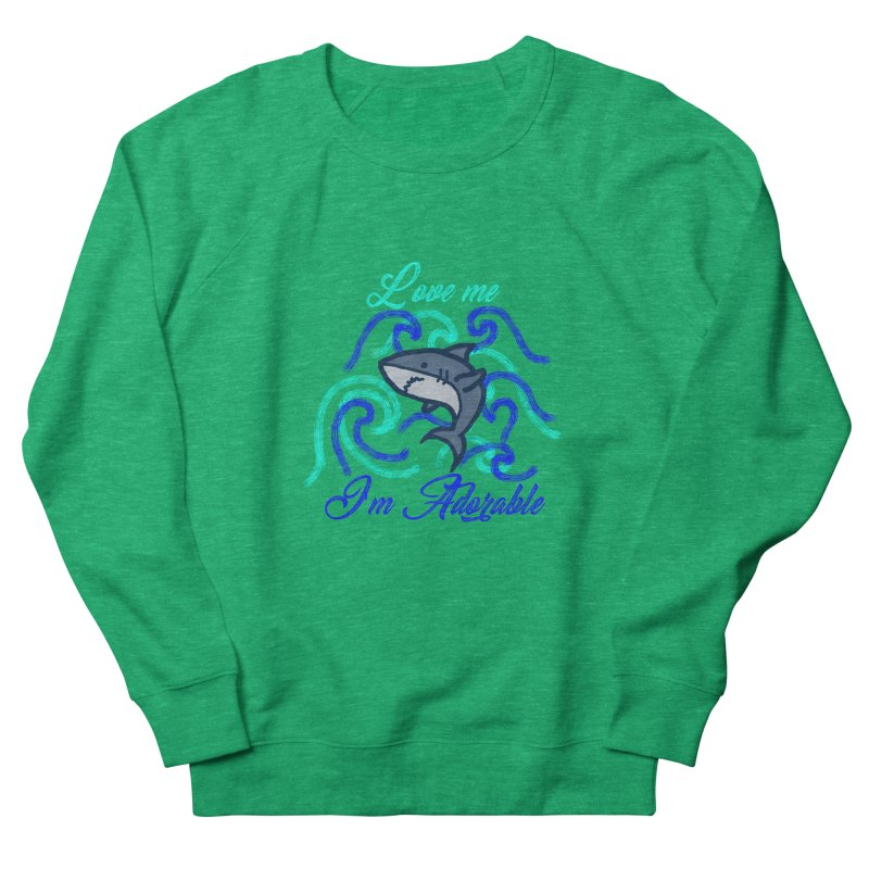 Shark adorable Men's French Terry Sweatshirt by DERG's Artist Shop