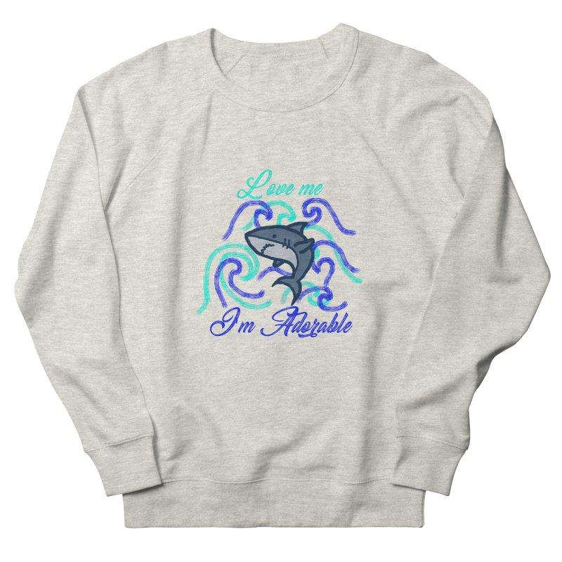 Shark adorable Men's Sweatshirt by DERG's Artist Shop
