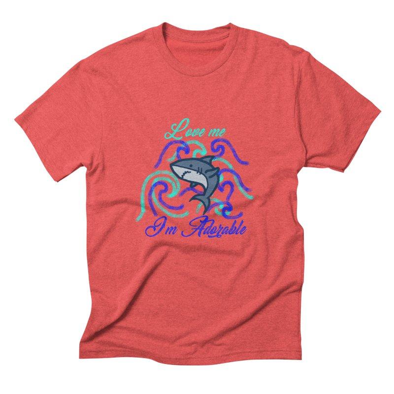 Shark adorable Men's Triblend T-Shirt by DERG's Artist Shop