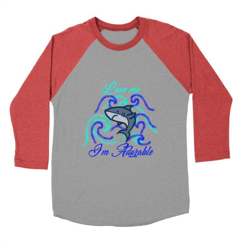 Shark adorable Women's Baseball Triblend T-Shirt by DERG's Artist Shop