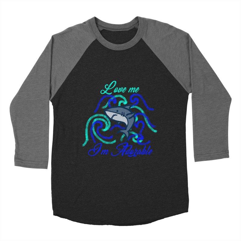 Shark adorable Women's Baseball Triblend Longsleeve T-Shirt by DERG's Artist Shop