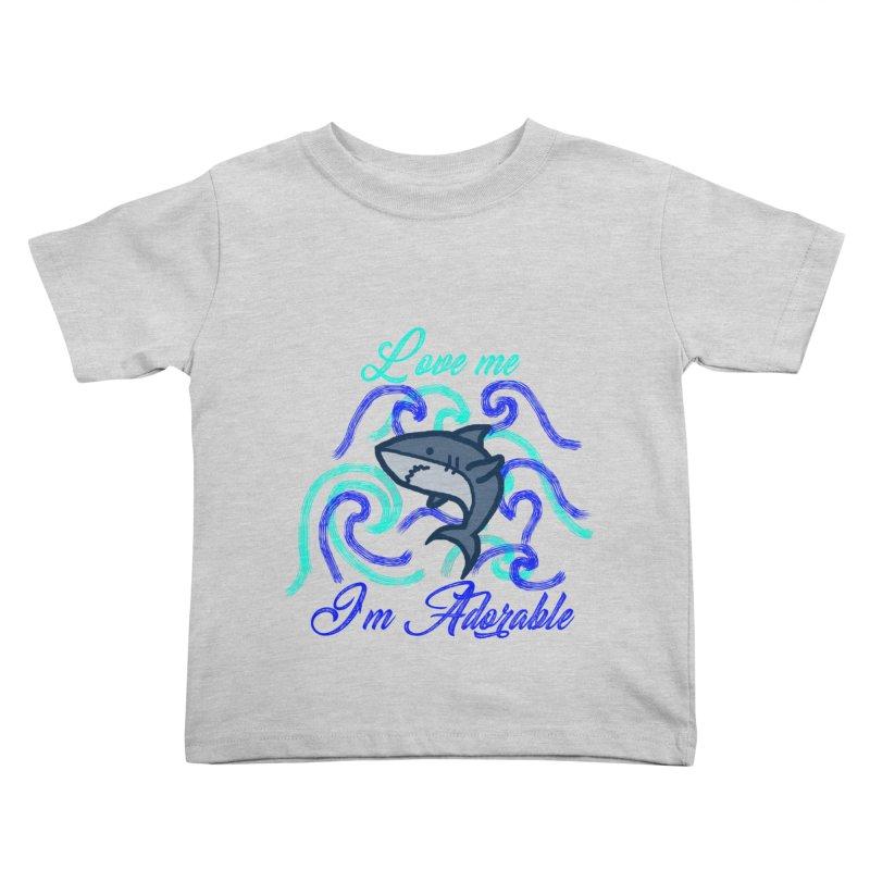 Shark adorable Kids Toddler T-Shirt by DERG's Artist Shop