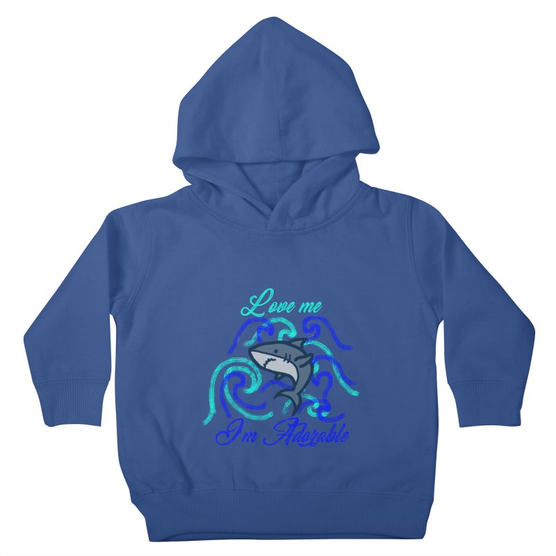 Shark adorable Kids Toddler Pullover Hoody by DERG's Artist Shop