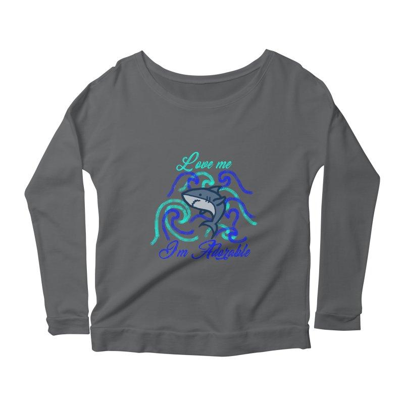 Shark adorable Women's Scoop Neck Longsleeve T-Shirt by DERG's Artist Shop
