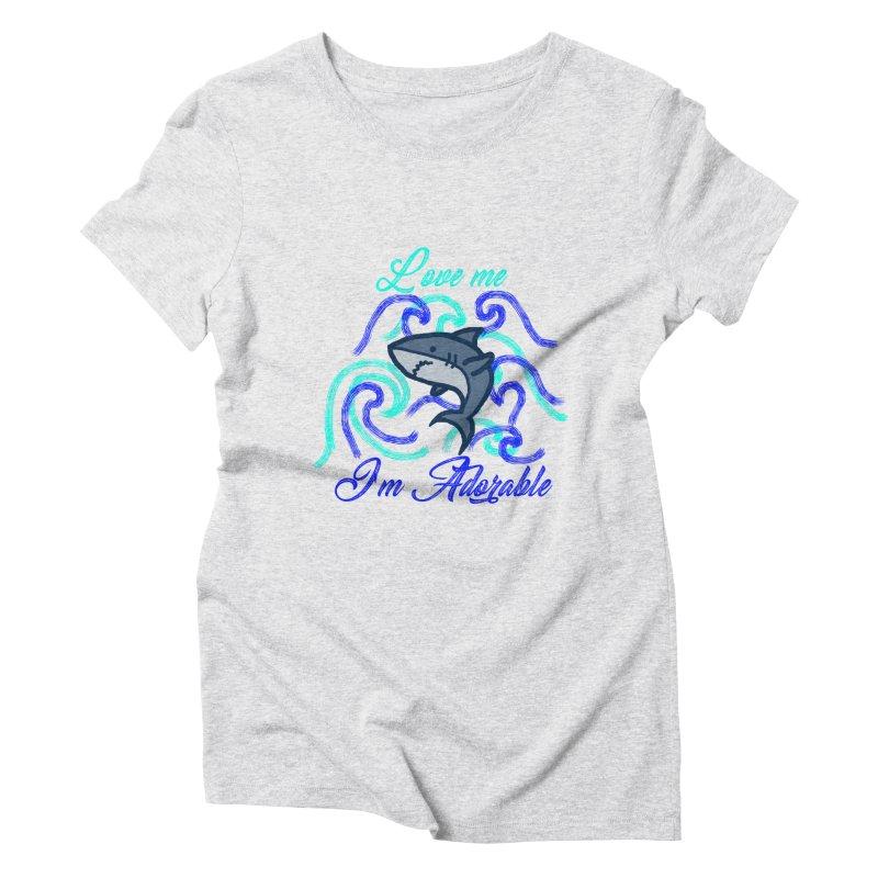 Shark adorable Women's Triblend T-Shirt by DERG's Artist Shop