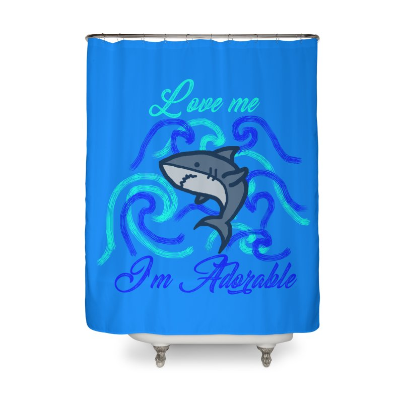 Shark adorable Home Shower Curtain by DERG's Artist Shop