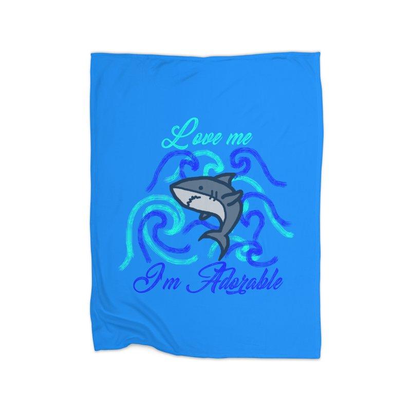 Shark adorable Home Blanket by DERG's Artist Shop