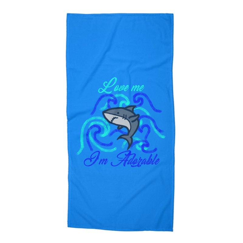 Shark adorable Accessories Beach Towel by DERG's Artist Shop