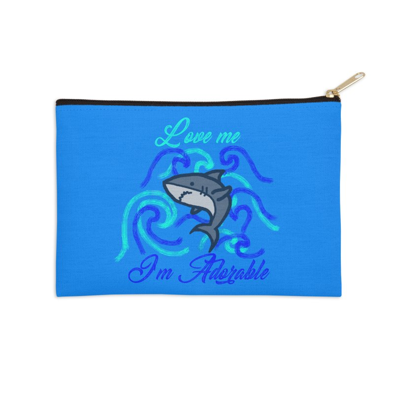 Shark adorable Accessories Zip Pouch by DERG's Artist Shop