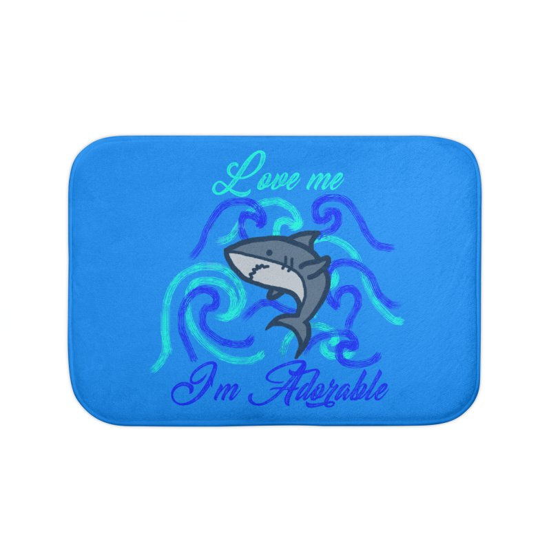 Shark adorable Home Bath Mat by DERG's Artist Shop