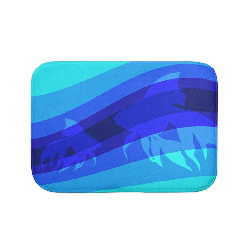 Blue wave Home Bath Mat by DERG's Artist Shop