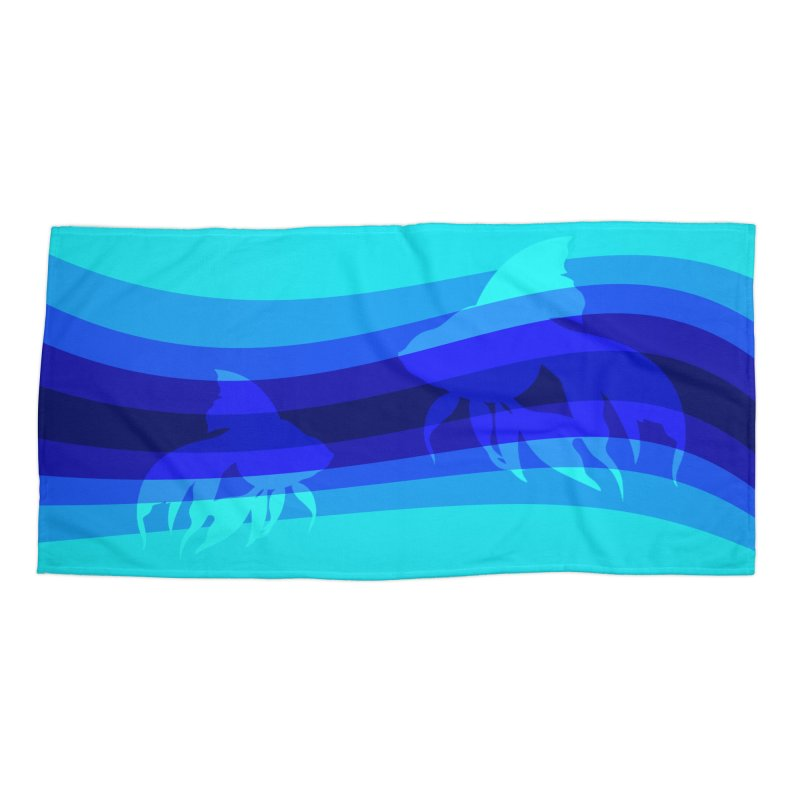 Blue wave Accessories Beach Towel by DERG's Artist Shop