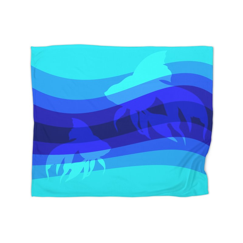 Blue wave Home Blanket by DERG's Artist Shop
