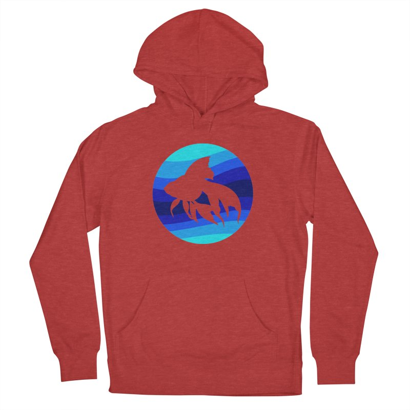 Blue wave Women's French Terry Pullover Hoody by DERG's Artist Shop