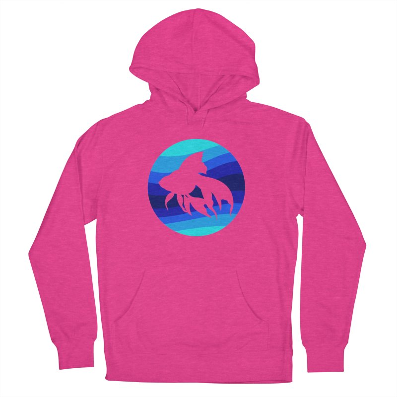 Blue wave Women's Pullover Hoody by DERG's Artist Shop