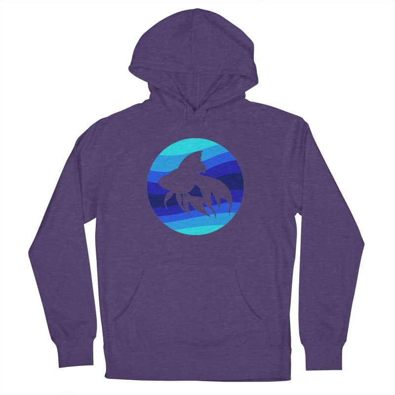Blue wave Men's Pullover Hoody by DERG's Artist Shop