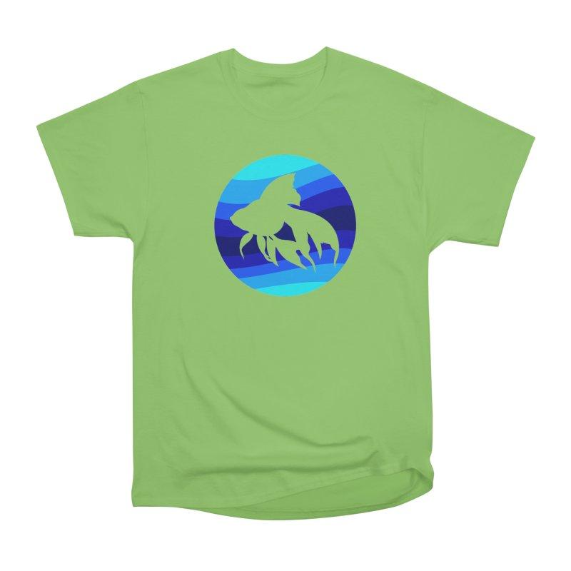 Blue wave Women's Heavyweight Unisex T-Shirt by DERG's Artist Shop