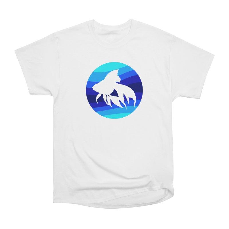 Blue wave Women's Classic Unisex T-Shirt by DERG's Artist Shop