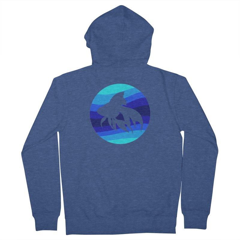 Blue wave Women's Zip-Up Hoody by DERG's Artist Shop
