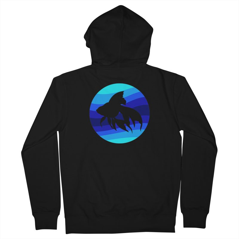 Blue wave Women's Zip-Up Hoody by DERG's Artist Shop