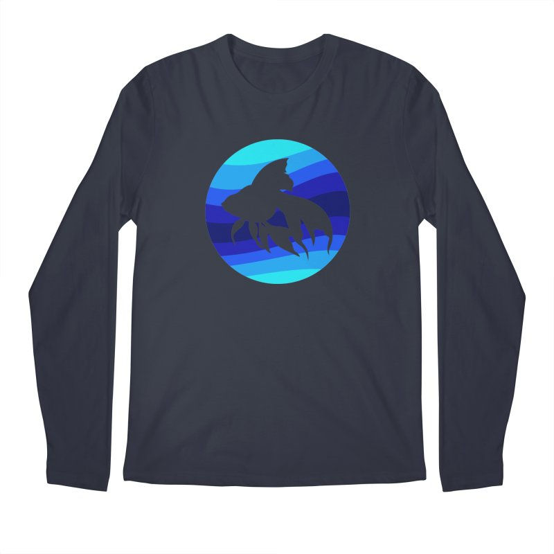 Blue wave Men's Regular Longsleeve T-Shirt by DERG's Artist Shop