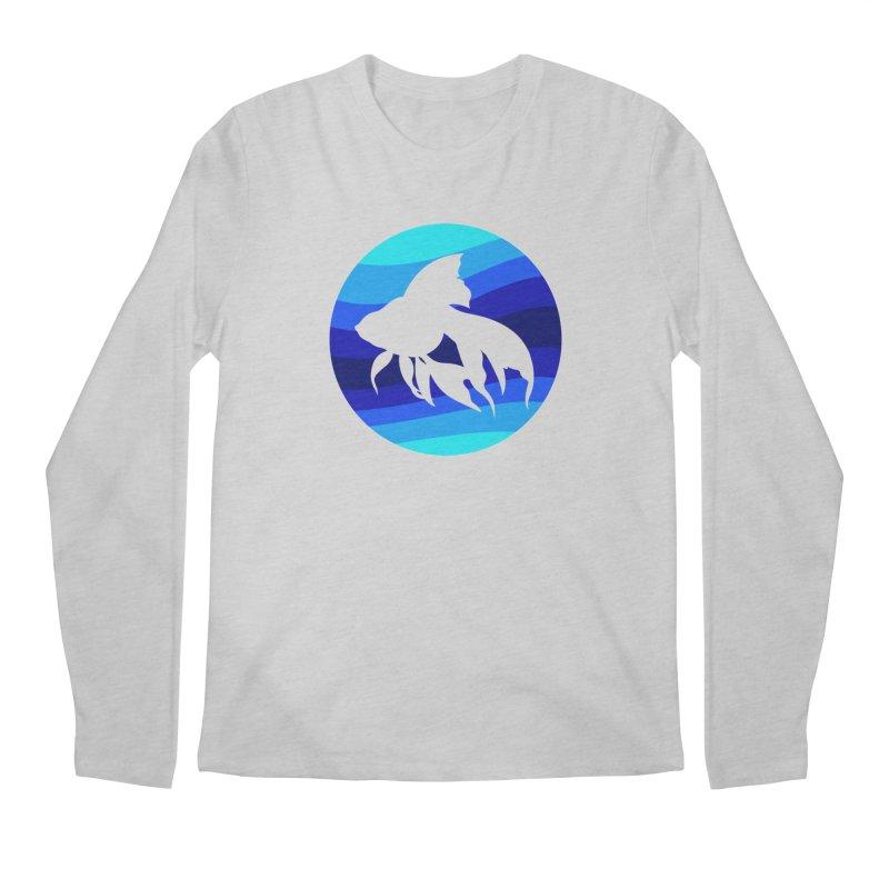 Blue wave Men's Longsleeve T-Shirt by DERG's Artist Shop