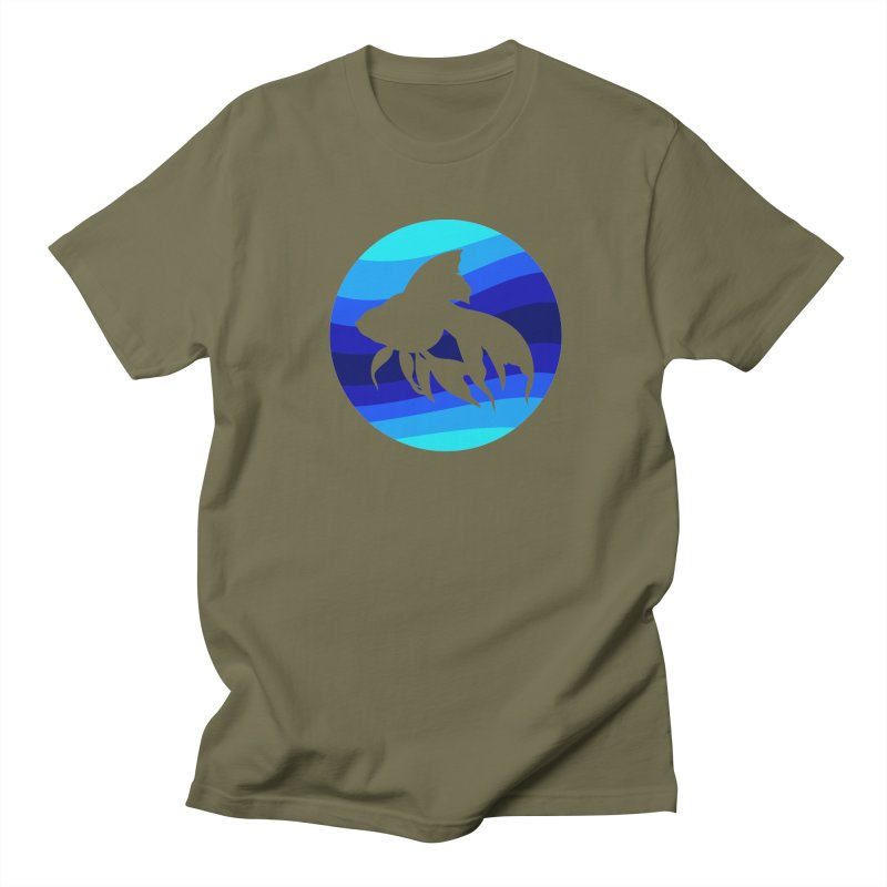 Blue wave Men's T-Shirt by DERG's Artist Shop