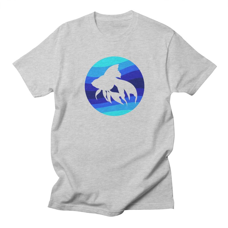 Blue wave Men's T-shirt by DERG's Artist Shop