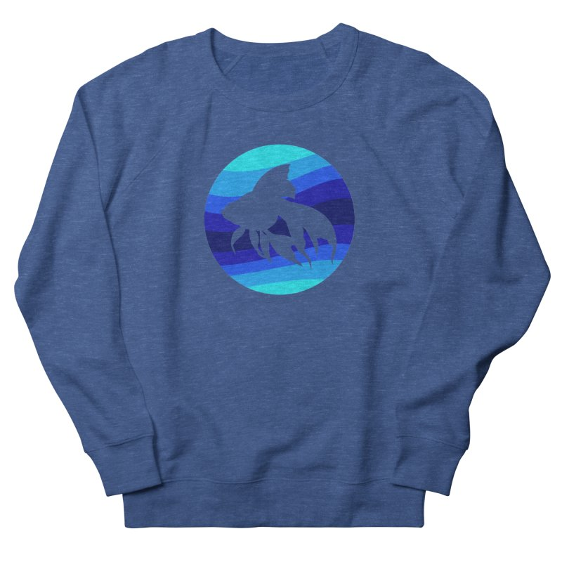 Blue wave Women's Sweatshirt by DERG's Artist Shop