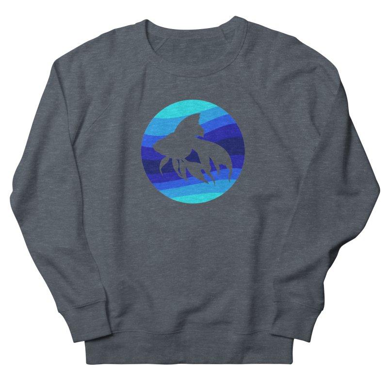 Blue wave Men's French Terry Sweatshirt by DERG's Artist Shop