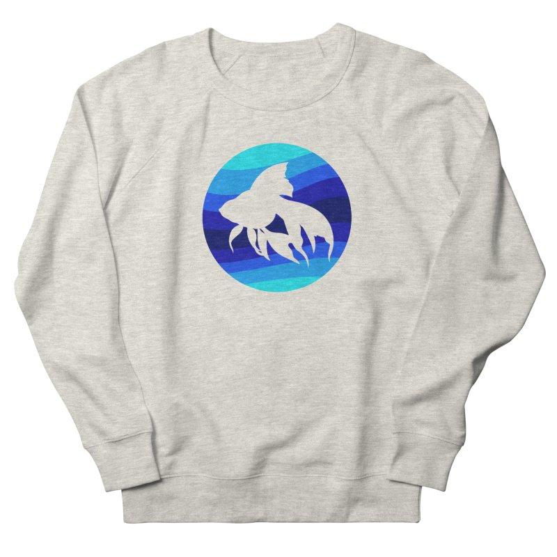 Blue wave Men's Sweatshirt by DERG's Artist Shop