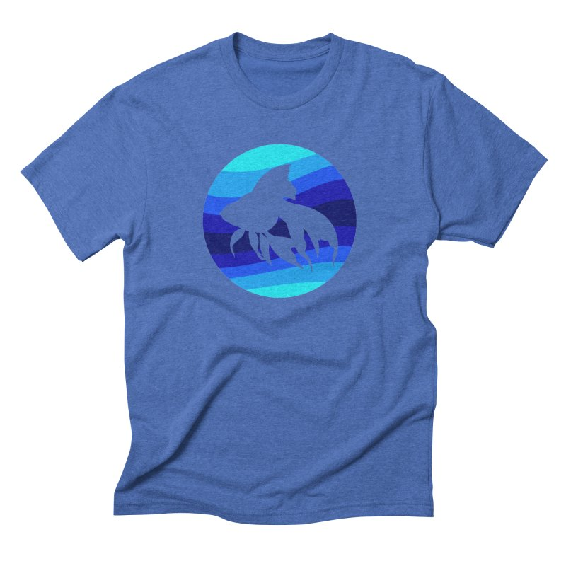 Blue wave Men's Triblend T-shirt by DERG's Artist Shop