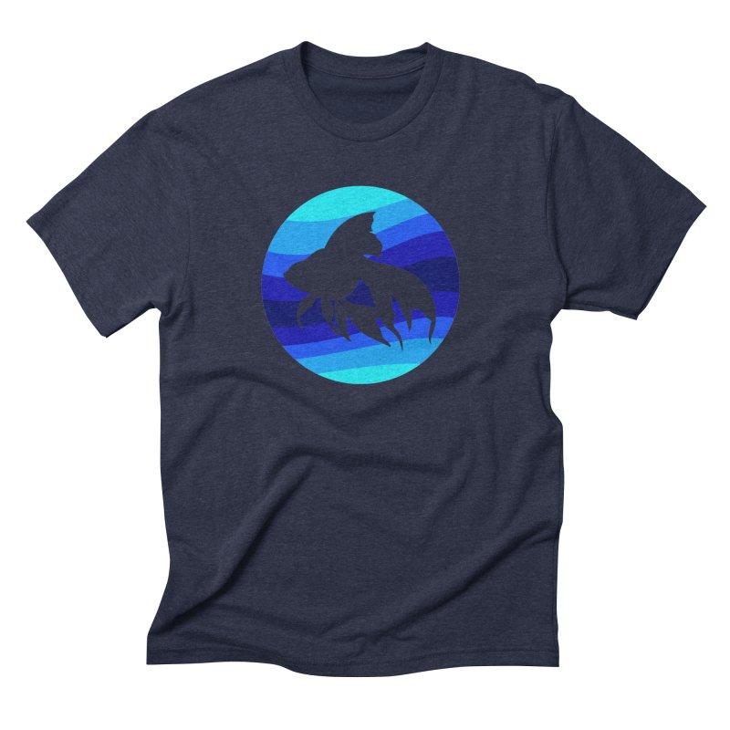 Blue wave Men's Triblend T-Shirt by DERG's Artist Shop