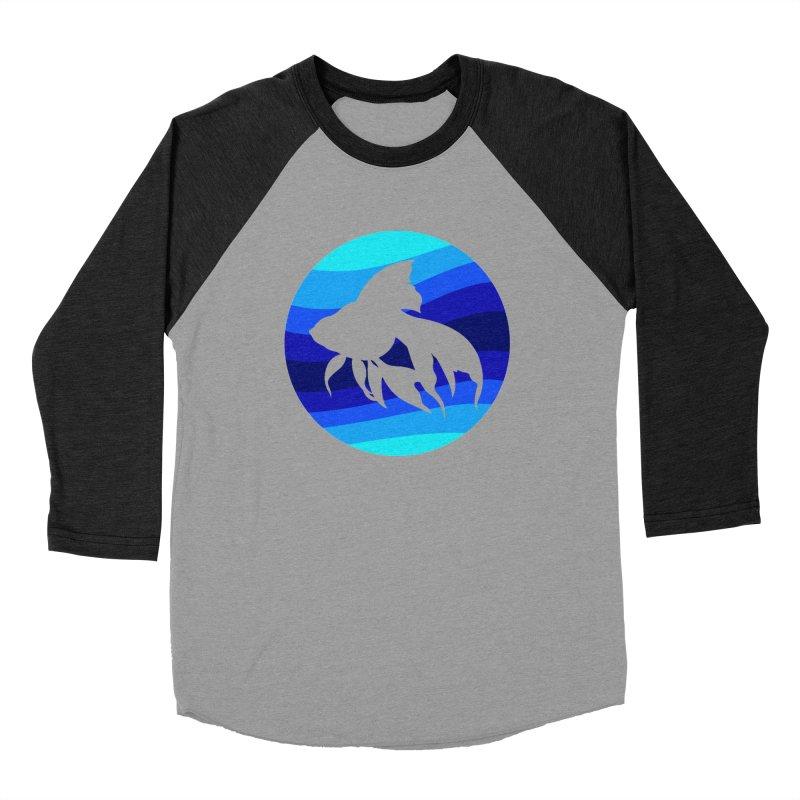 Blue wave Men's Baseball Triblend T-Shirt by DERG's Artist Shop