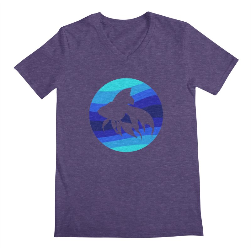 Blue wave Men's V-Neck by DERG's Artist Shop