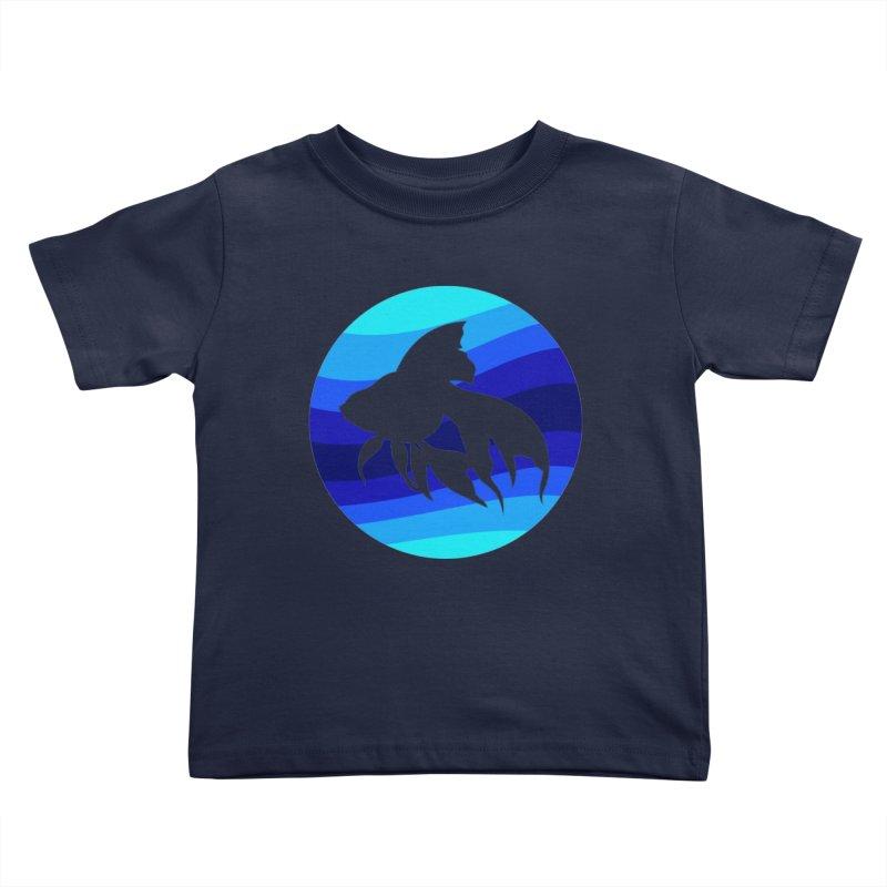 Blue wave Kids Toddler T-Shirt by DERG's Artist Shop