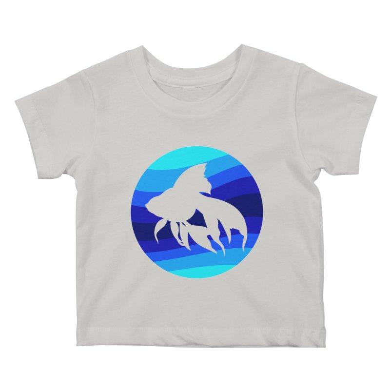 Blue wave Kids Baby T-Shirt by DERG's Artist Shop